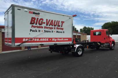 VIAVault utilizes our very own custom truck and lift to gently lower your, full size, VIAVault on your surface with direct and full contact with our lift throughout the entire process.